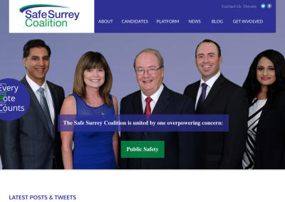 Safe Surrey Coalition – Campaign Communications