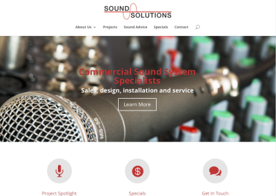 Sound Solutions Canada – Website & eStore