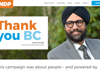 BC NDP Campaigns – Richmond & New Westminster